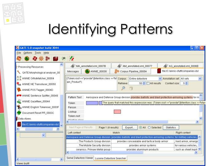 Identifying Patterns
