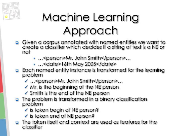 Machine Learning Approach
