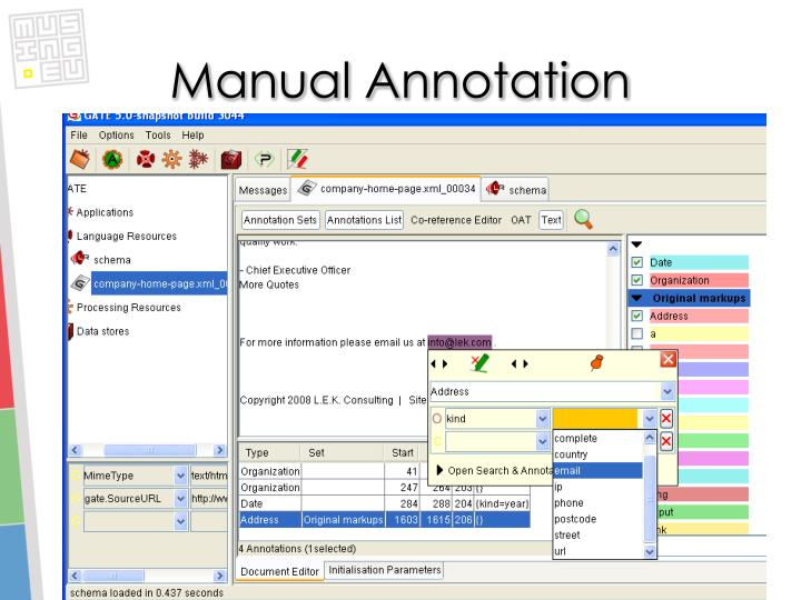 Manual Annotation