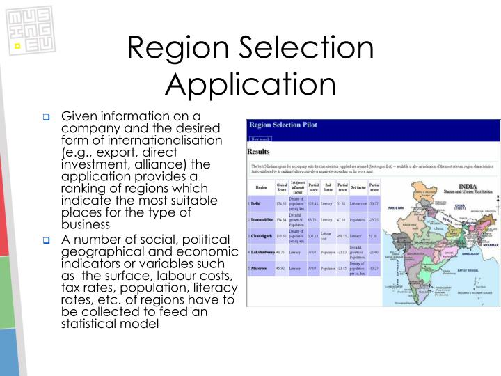 Region Selection Application