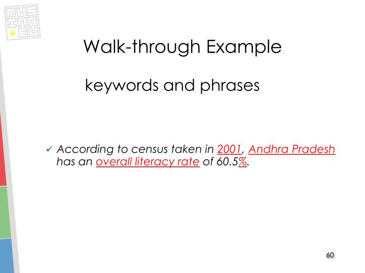 Walk-through Example