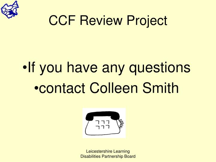 CCF Review Project