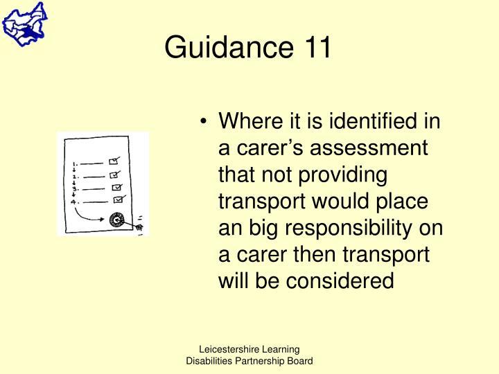Guidance 11