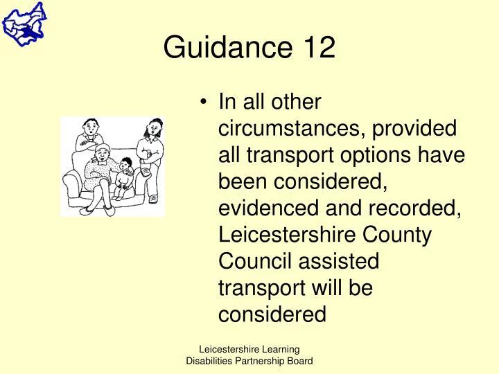 Guidance 12
