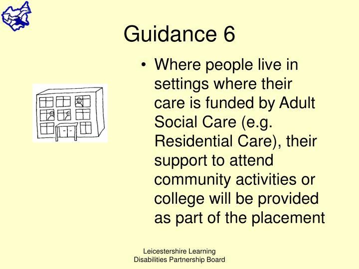 Guidance 6