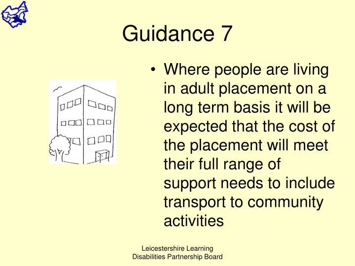 Guidance 7