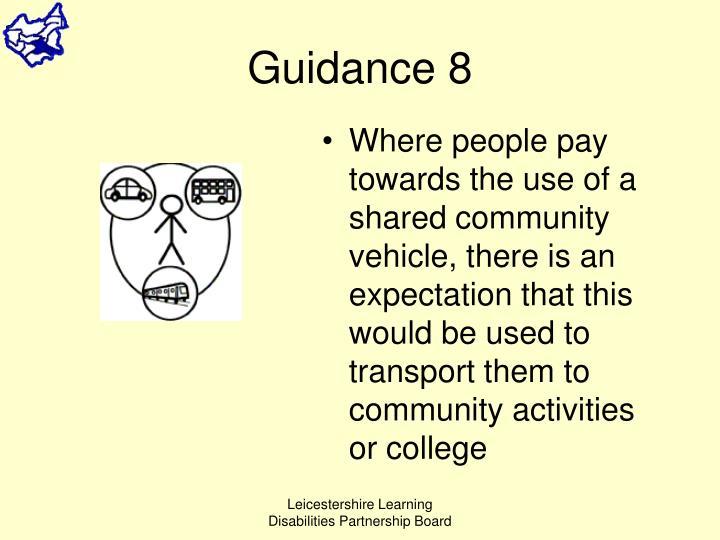 Guidance 8