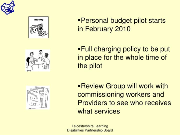 Personal budget pilot starts in February 2010