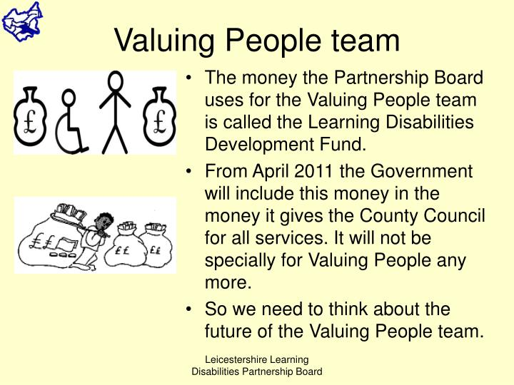Valuing People team