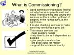 what is commissioning