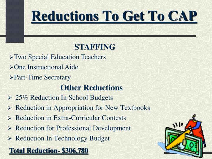 Reductions To Get To CAP