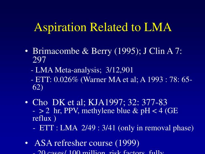 Aspiration Related to LMA