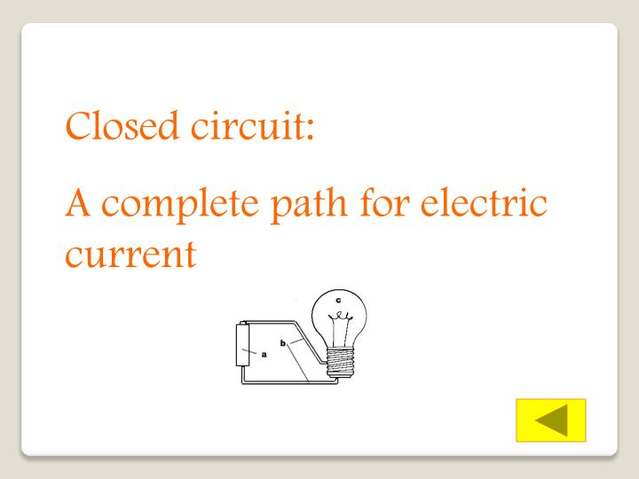 Closed circuit: