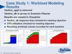 case study 1 workload modeling results