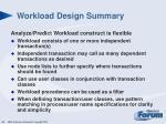 workload design summary1