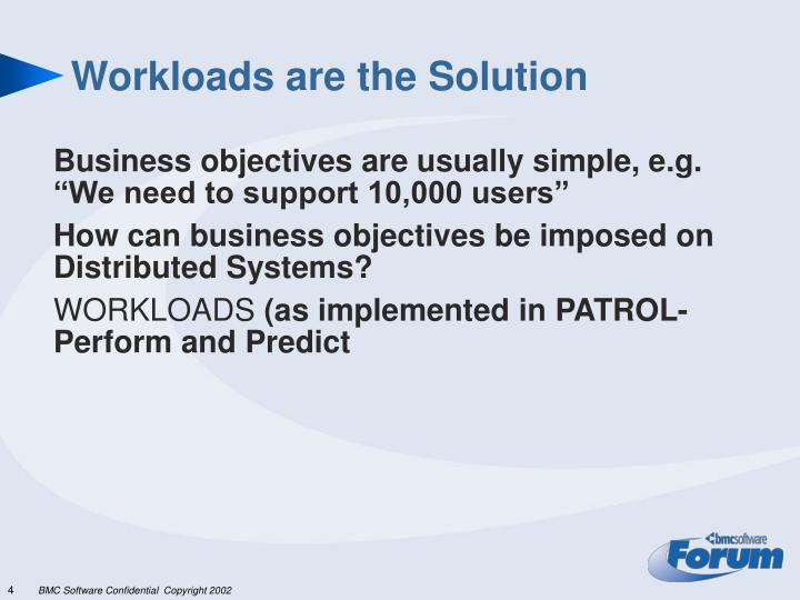 Workloads are the Solution