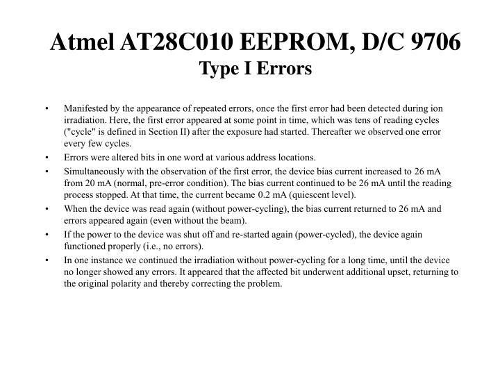 Atmel AT28C010 EEPROM, D/C 9706