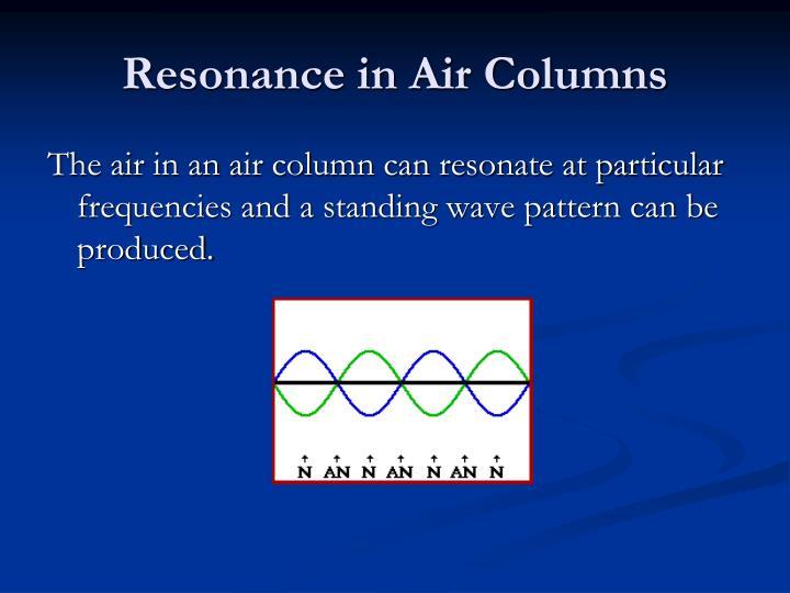 Resonance in Air Columns
