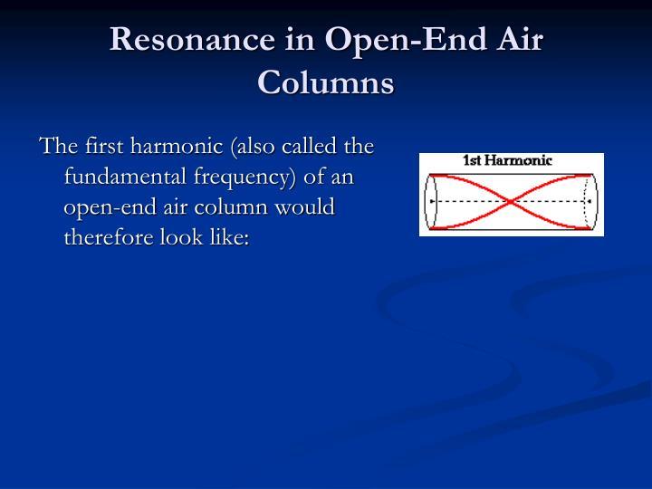 Resonance in Open-End Air Columns