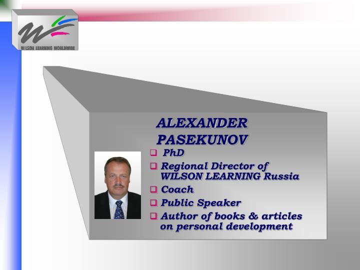ALEXANDER  PASEKUNOV