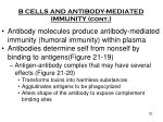b cells and antibody mediated immunity cont1