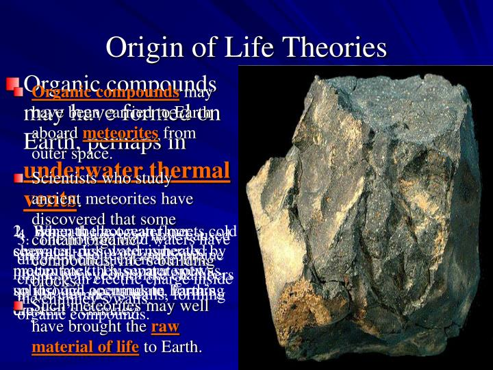 Organic compounds may have formed on Earth, perhaps in