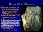 origin of life theories