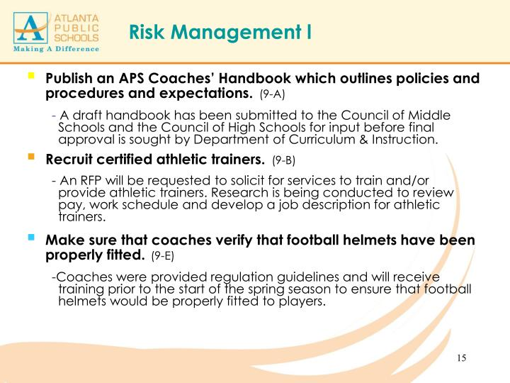 Publish an APS Coaches' Handbook which outlines policies and procedures and expectations.