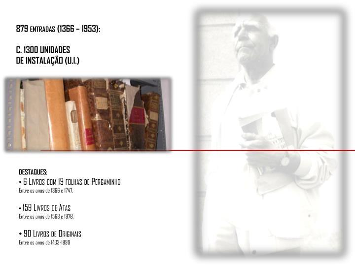 879 entradas (1366 – 1953):