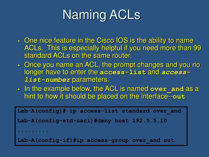 Naming ACLs