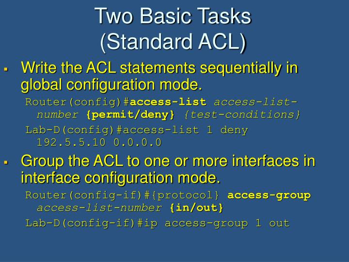 Two Basic Tasks