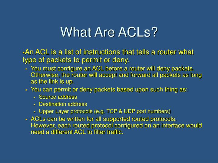 What Are ACLs?