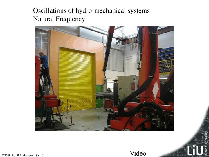 Oscillations of hydro-mechanical systems