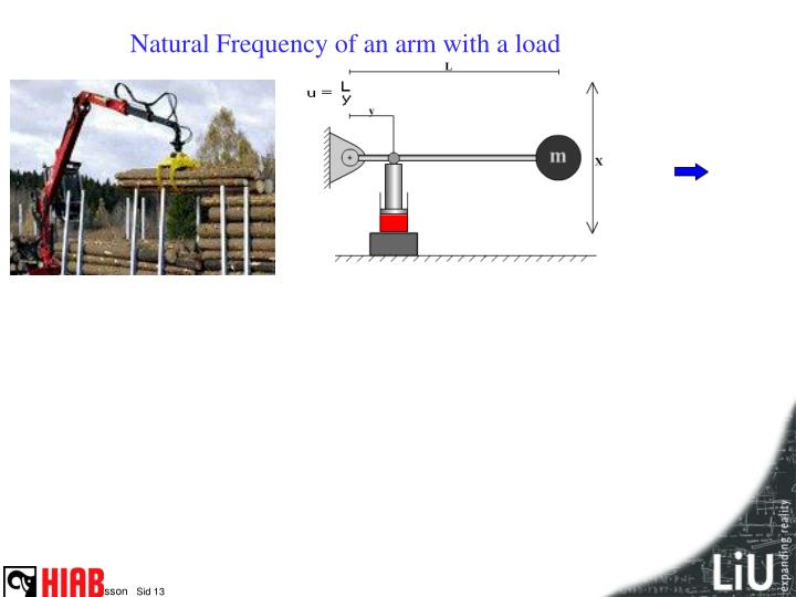 Natural Frequency of an arm with a load