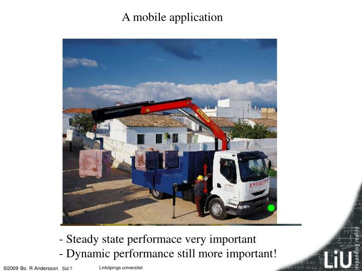 A mobile application