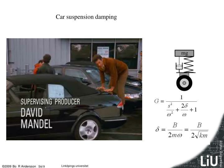 Car suspension damping