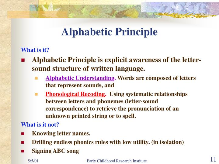 Alphabetic Principle