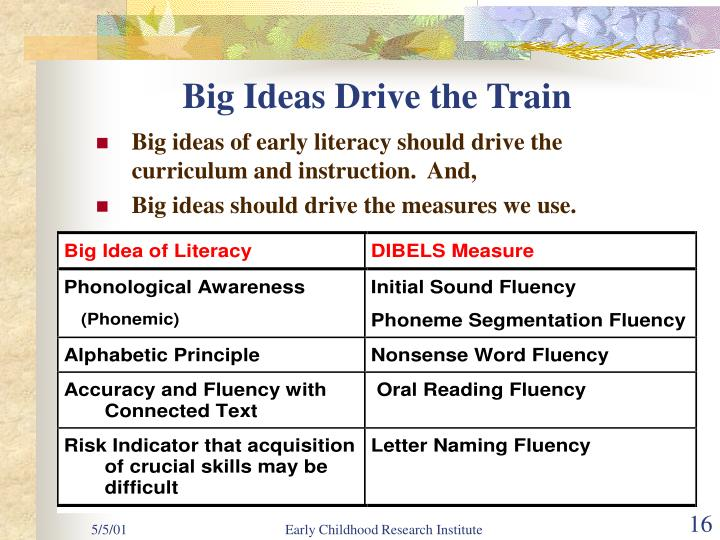 Big Ideas Drive the Train