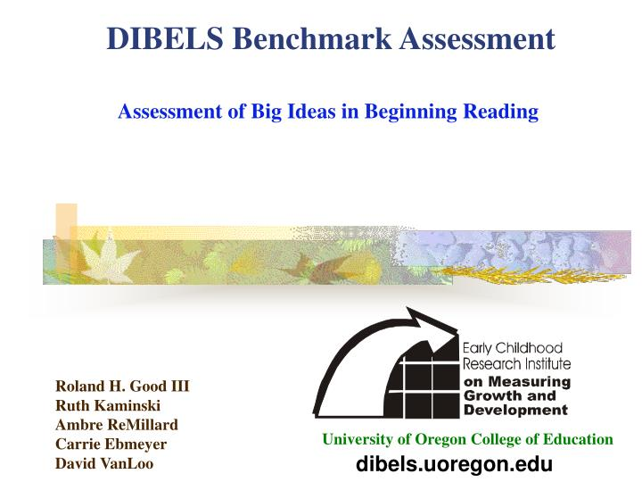 Dibels benchmark assessment