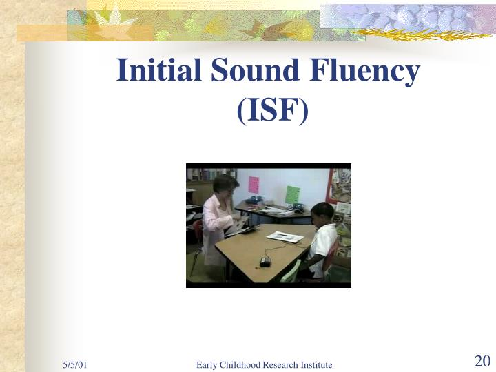 Initial Sound Fluency