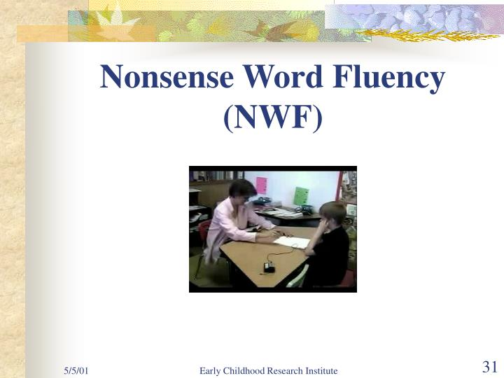 Nonsense Word Fluency