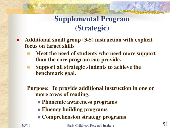 Supplemental Program