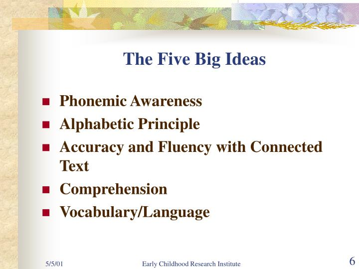 The Five Big Ideas