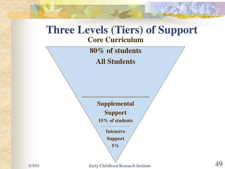 Three Levels (Tiers) of Support