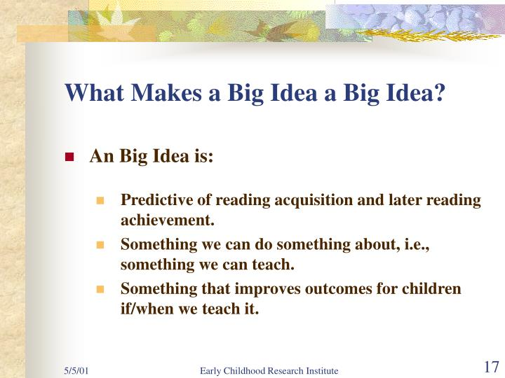 What Makes a Big Idea a Big Idea?