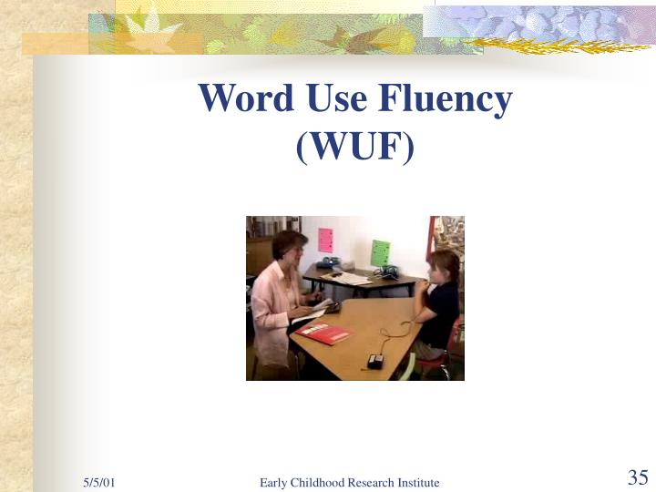 Word Use Fluency