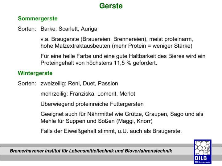 Gerste