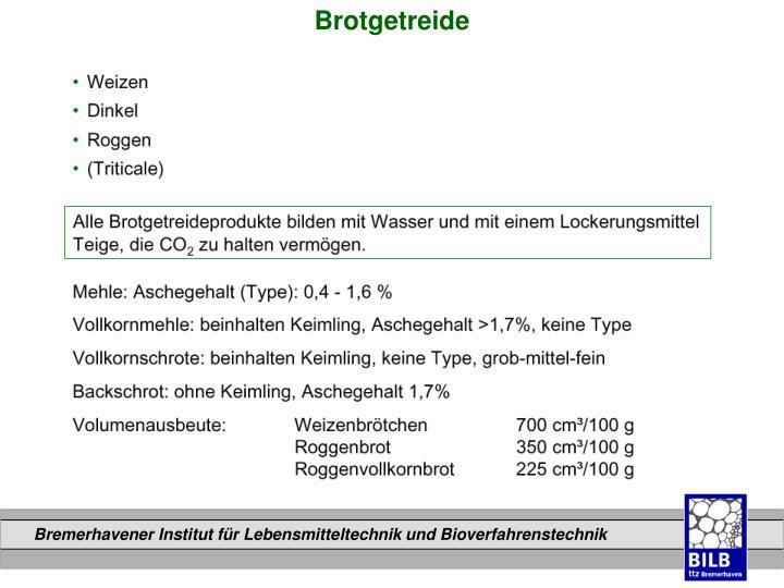 Brotgetreide