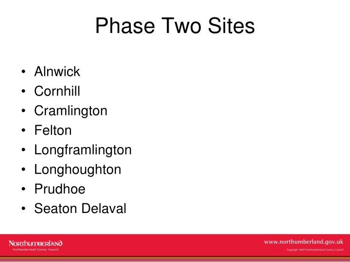 Phase Two Sites
