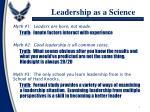 leadership as a science